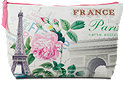 Schminktasche Vintage Paris in weiß und pink