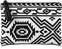 Schminktasche schwarz/weiß mit Ethnomuster