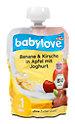 babylove Fruchtpüree Banane & Kirsche in Apfel mit Joghurt