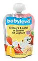 babylove Fruchtpüree Erdbeere & Apfel in Banane mit Joghurt