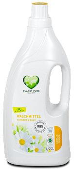 Planet Pure Bio Waschmittel Schwarz & Bunt Kamille Orange