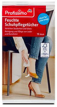 Profissimo Feuchte Schuhpflegetücher