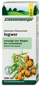 Schoenenberger Naturreiner Pflanzentrunk Ingwer