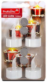 Profissimo LED Teelichter mit Batterien