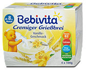 Bebivita Cremiger Grießbrei Vanille-Geschmack
