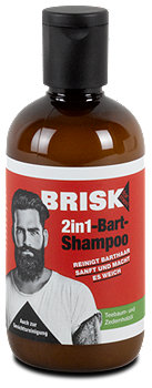 Brisk for men 2in1-Bart-Shampoo