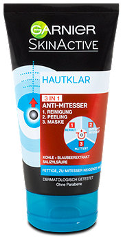 Garnier Hautklar 3 in 1 Anti-Mitesser