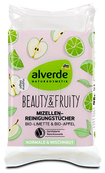 alverde Feuchte Reinigungstücher Beauty & Fruity