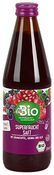 dmBio Superfrucht Saft mit Granatapfel, Aronia und Acai