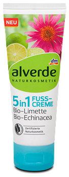 alverde 5in1 Fusscreme Limette Echinacea