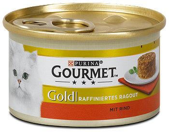 Gourmet Gold Katzenfutter Raffiniertes Ragout mit Rind