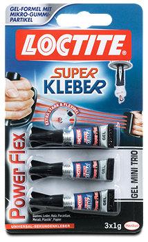 Loctite Super Kleber Gel Mini Trio