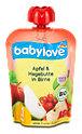 babylove Fruchtpüree Apfel & Hagebutte in Birne