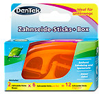 DenTek Zahnseide-Sticks + Box sort.