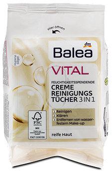 Balea Vital Creme Reinigungstücher 3in1