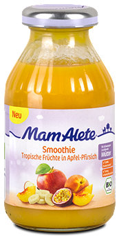 Mam Alete Smoothie Tropische Früchte in Apfel-Pfirsich