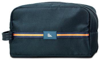 Herrentasche in Boxform dunkelblau mit Borte