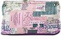 Schminktasche im Vintage-Look rosa & creme