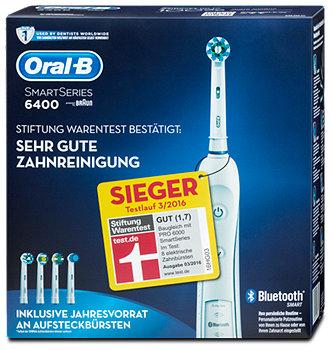 Oral-B SmartSeries 6400 elektrische Zahnbürste+Ersatzbürsten
