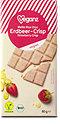 veganz Bio weiße Erdbeer-Crisp Schokolade