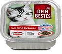 Dein Bestes Katzen Kinder Katzenfutter mit Rind in Sauce