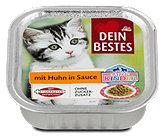 Dein Bestes Katzen Kinder Katzenfutter mit Huhn in Sauce