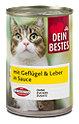 Dein Bestes Katzenfutter mit Geflügel & Leber in Sauce