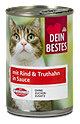 Dein Bestes Katzenfutter mit Rind & Truthahn in Sauce