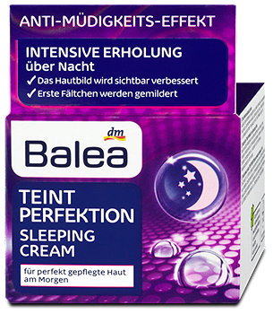 Balea Teint Perfektion Sleeping Cream