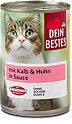 Dein Bestes Katzenfutter mit Kalb & Huhn in Sauce