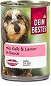 Dein Bestes Hundefutter mit Kalb & Lamm in Sauce