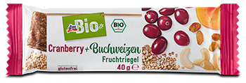 dmBio Fruchtriegel Cranberry + Buchweizen