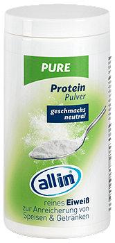 allin pure Protein Pulver geschmacksneutral