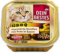 Dein Bestes Katzenfutter BBQ marinierte Streifen mit Pute in Sauce