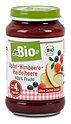 dmBio Fruchtbrei Apfel-Himbeere-Heidelbeere