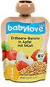 babylove Babybrei Erdbeere-Banane in Apfel mit Müsli