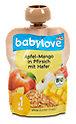 babylove Fruchtpüree Apfel-Mango in Pfirsich mit Hafer
