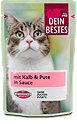 Dein Bestes Katzenfutter mit Kalb & Pute in Sauce