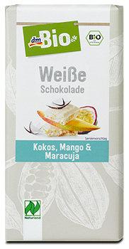dmBio Weiße Schokolade Kokos, Mango & Maracuja