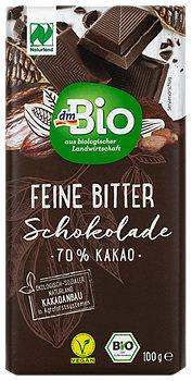 dmBio Feine Bitter Schokolade 70 % Kakao