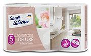 Sanft&Sicher Toilettenpapier Deluxe 5-lagig