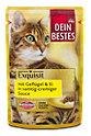 Dein Bestes Exquisit Katzenfutter mit Geflügel & Ei in Sauce
