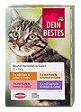 Dein Bestes Katzenfutter Beutel-Variationen in Gelee