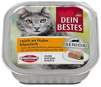Dein Bestes Senior Katzenfutter reich an Huhn klassisch