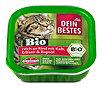 Dein Bestes Bio Katzenfutter mit Rind, Kalb & Erbsen