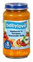 babylove Babymenü Makkaroni in Tomaten-Mozzarella-Soße