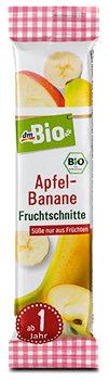 dmBio Apfel-Banane Fruchtschnitte