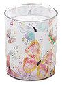 Profissimo Motiv-Glas Kerze Schmetterlinge