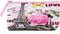 Schminktasche rosa/hellgrau Paris