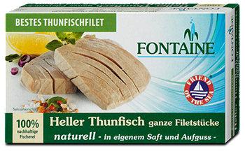 Fontaine heller Thunfisch naturell in eigenem Saft und Aufguss